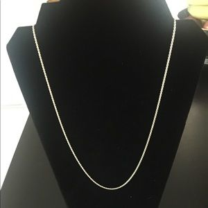 EUC Sterling silver box chain necklace